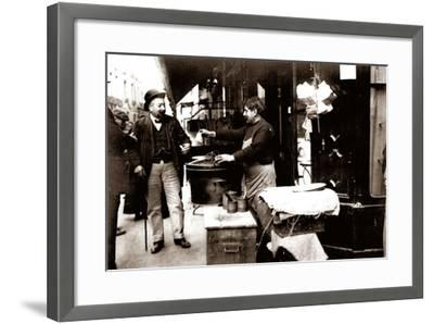 Chestnut Seller, Paris, 1900--Framed Photographic Print