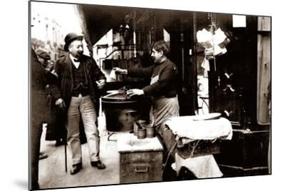 Chestnut Seller, Paris, 1900--Mounted Photographic Print
