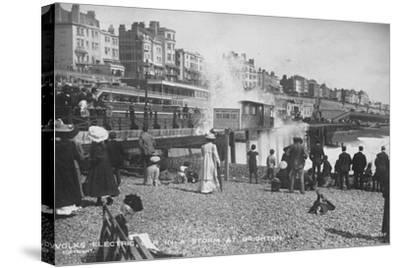 Volk's Electric Railway, Brighton--Stretched Canvas Print