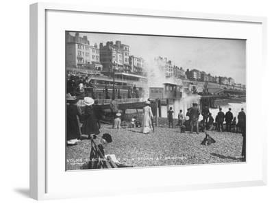 Volk's Electric Railway, Brighton--Framed Photographic Print
