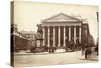 Royal Exchange, London, C.1885--Stretched Canvas Print