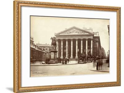 Royal Exchange, London, C.1885--Framed Photographic Print