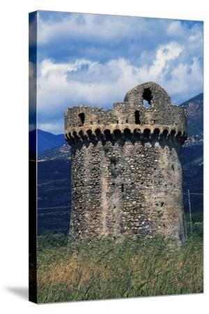 Saracen Tower, 15th Century, Villapiana, Calabria, Italy--Stretched Canvas Print