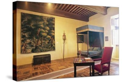 Bedroom, Chateau of Chaban, Saint-Leon-Sur-Vezere, Aquitaine, France--Stretched Canvas Print