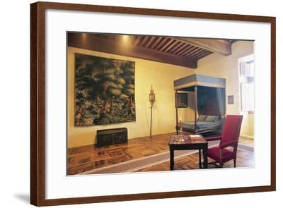 Bedroom, Chateau of Chaban, Saint-Leon-Sur-Vezere, Aquitaine, France--Framed Photographic Print