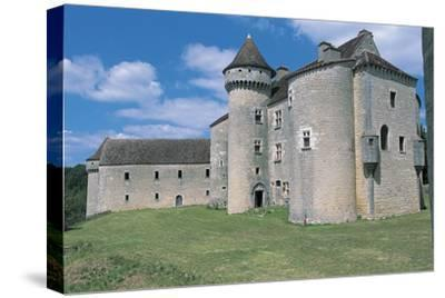 Low Angle View of a Castle, Vaillac Castle, Aquitaine, France--Stretched Canvas Print