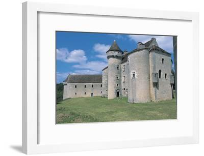 Low Angle View of a Castle, Vaillac Castle, Aquitaine, France--Framed Photographic Print
