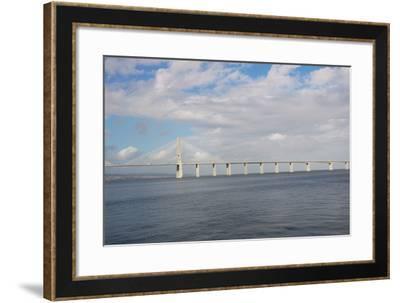 Portugal, Lisbon, the Vasco Da Gama Bridge, Built in 1995--Framed Photographic Print