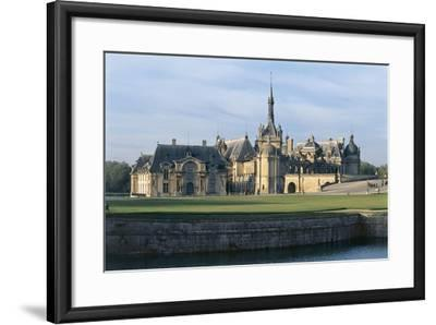 Facade of a Castle, Chateau De Chantilly, Picardy, France--Framed Photographic Print