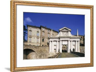St James Gate, 16th Century, Bergamo, Upper City, Lombardy, Italy--Framed Photographic Print