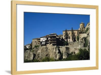 Spain, Castile-La Mancha, Cuenca, Hanging Houses, 15th Century--Framed Photographic Print
