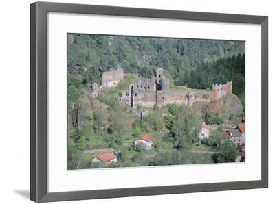 Old Ruins of a Castle, Arlempdes Castle, Auvergne, France--Framed Photographic Print