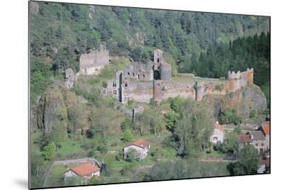 Old Ruins of a Castle, Arlempdes Castle, Auvergne, France--Mounted Photographic Print