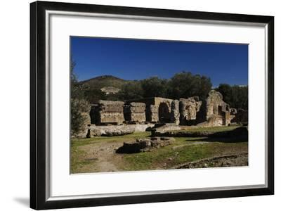 Hadrian's Villa, the Greek and Latin Libraries, 2nd Century, Italy--Framed Photographic Print