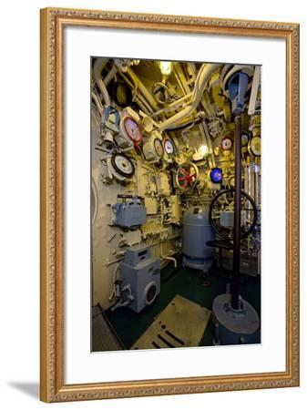 The Helmsman Station on the Captured German Submarine U505--Framed Photographic Print