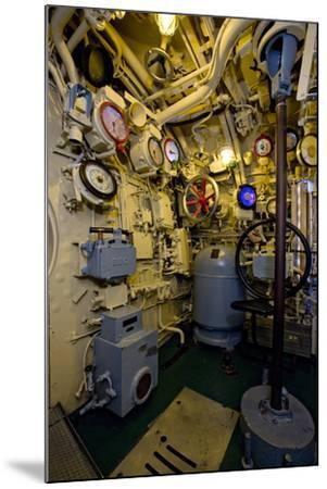 The Helmsman Station on the Captured German Submarine U505--Mounted Photographic Print