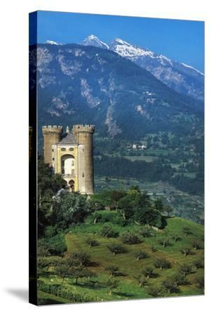 Aymavilles Castle, 12th-14th Century, Aosta Valley, Italy--Stretched Canvas Print