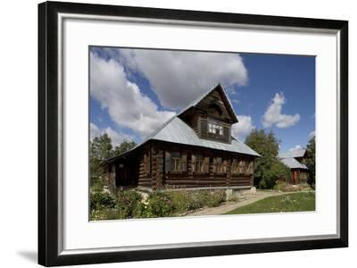 Wooden Houses, Traditional Buildings, Kideksa, Near Suzdal, Russia--Framed Photographic Print