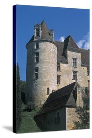 Low Angle View of a Castle, Panassou Castle, Aquitaine, France--Stretched Canvas Print