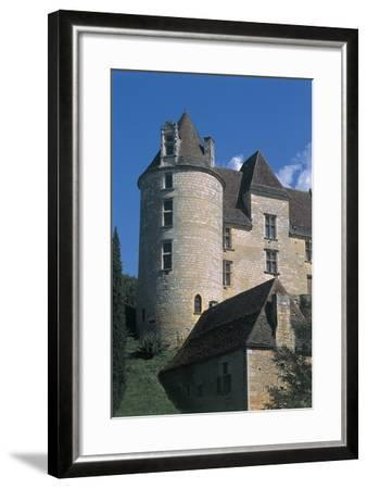 Low Angle View of a Castle, Panassou Castle, Aquitaine, France--Framed Photographic Print