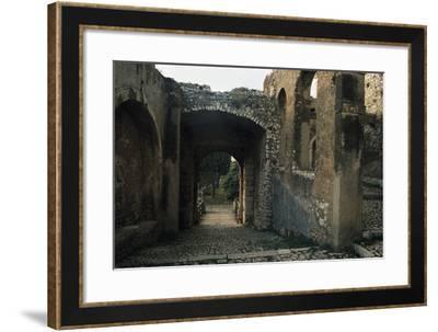 View of Caetani Castle, 13th Century, Sermoneta, Lazio, Italy--Framed Photographic Print