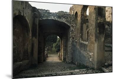 View of Caetani Castle, 13th Century, Sermoneta, Lazio, Italy--Mounted Photographic Print