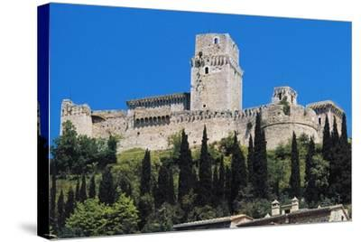 Maggiore Fortress, Medieval Origin, Assisi, Umbria, Italy--Stretched Canvas Print