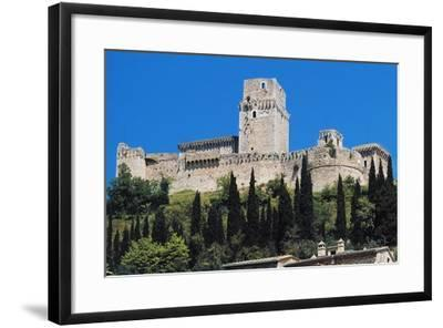 Maggiore Fortress, Medieval Origin, Assisi, Umbria, Italy--Framed Photographic Print