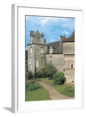 Lawn in Front of a Castle, Cenevieres Castle, Midi-Pyrenees, France--Framed Photographic Print