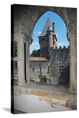 Gate of a Castle, Montespieu Castle, Midi-Pyrenees, France--Stretched Canvas Print