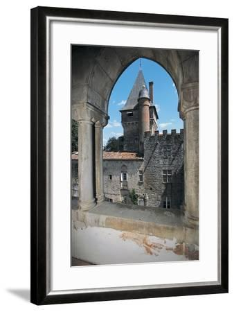 Gate of a Castle, Montespieu Castle, Midi-Pyrenees, France--Framed Photographic Print