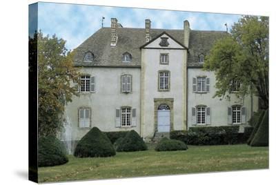 Facade of a Castle, Chateau Du Chassan, Auvergne, France--Stretched Canvas Print
