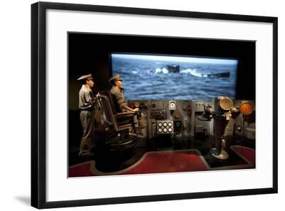 A Display Depicting a Ships Bridge from the U505 Exhibit--Framed Photographic Print