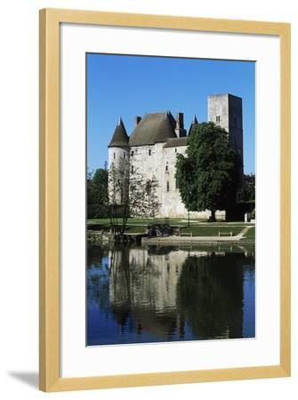 Chateau of Nemours Seen from Loing River, Ile-De-France, France--Framed Photographic Print