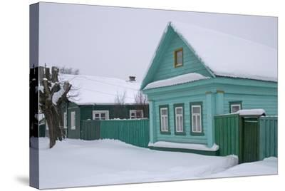 Traditional Wooden House, Pereslavl-Zalessky, Golden Ring, Russia--Stretched Canvas Print