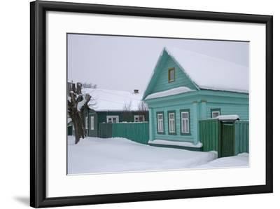 Traditional Wooden House, Pereslavl-Zalessky, Golden Ring, Russia--Framed Photographic Print