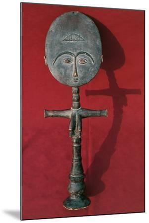 Wood Statuette Symbolizing Fertility, Ashanti Civilization, Ghana--Mounted Photographic Print