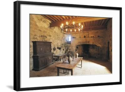 A Room in Chateau of Flamarens, Midi-Pyrenees, France--Framed Photographic Print