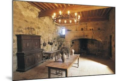 A Room in Chateau of Flamarens, Midi-Pyrenees, France--Mounted Photographic Print
