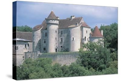 Castle in a Forest, Vaillac Castle, Aquitaine, France--Stretched Canvas Print