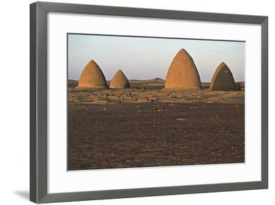 Graves (Qubba) of Holy Men, Old Dongola, Egypt--Framed Photographic Print