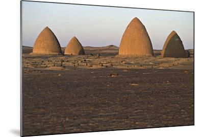 Graves (Qubba) of Holy Men, Old Dongola, Egypt--Mounted Photographic Print