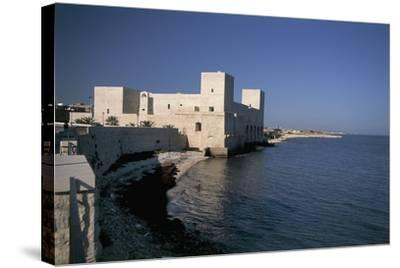 Castle at the Waterfront, Trani, Puglia, Italy--Stretched Canvas Print