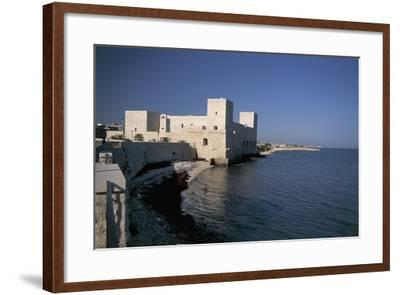 Castle at the Waterfront, Trani, Puglia, Italy--Framed Photographic Print