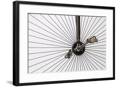 A Late 1800s High Wheel Bicycle--Framed Photographic Print