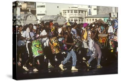 Mardi Gras Carnival, Port-De-France, Martinique, French West Indies--Stretched Canvas Print