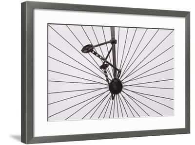 A Columbia High Wheel Bicycle--Framed Premium Photographic Print