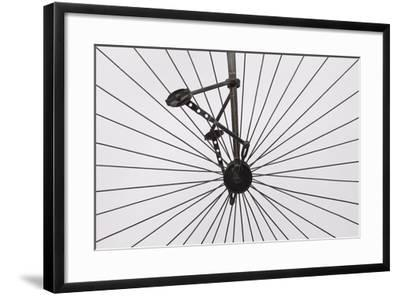 A Columbia High Wheel Bicycle--Framed Photographic Print