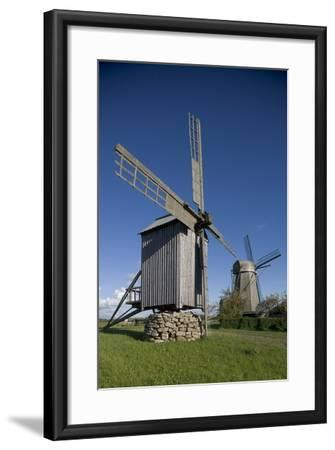Wooden Windmills, Angla, Saaremaa Island, Estonia--Framed Photographic Print