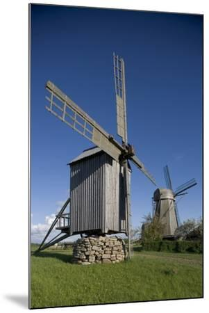 Wooden Windmills, Angla, Saaremaa Island, Estonia--Mounted Photographic Print